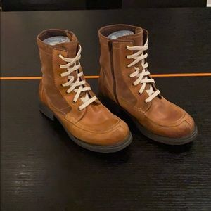 Diesel suede and leather workers boots